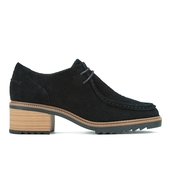 Clarks Women's Balmer Willow Suede Heeled Ankle Boots - Black