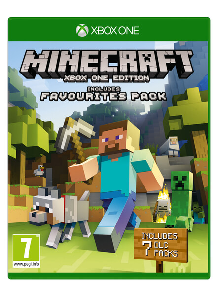 minecraft xbox one edition favourites pack xbox one