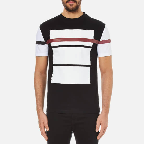 McQ Alexander McQueen Men's Printed Dropped Shoulder T-Shirt - Darkest Black