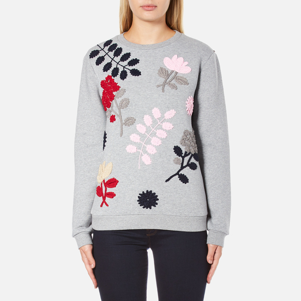 Sportmax Women's Texas Embroidered Sweatshirt - Medium Grey