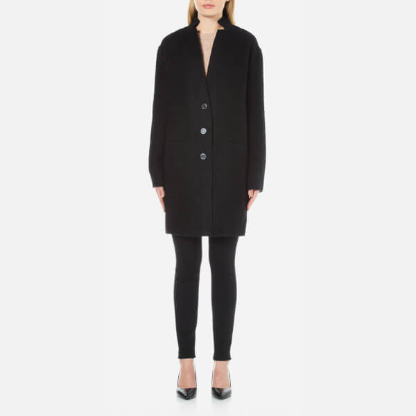 MICHAEL MICHAEL KORS Women's Raw Edge Overlap Coat - Black