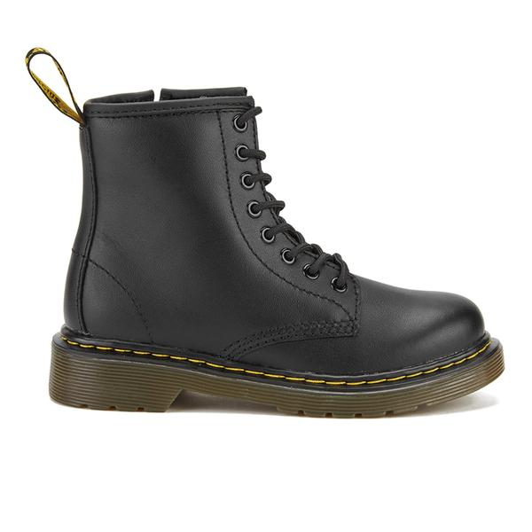 Dr. Martens Kids' Delaney Leather Lace Boots - Black