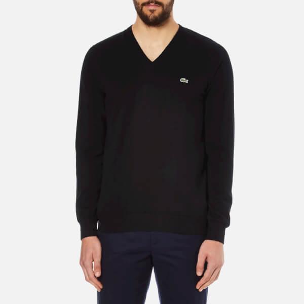 Lacoste Men's V-Neck Jumper - Black