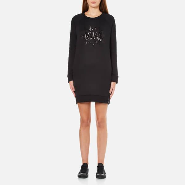Karl Lagerfeld Women's Sequin Karl Pop Dress - Black