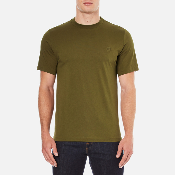 PS by Paul Smith Men's Crew Neck Short Sleeve Logo T-Shirt - Khaki