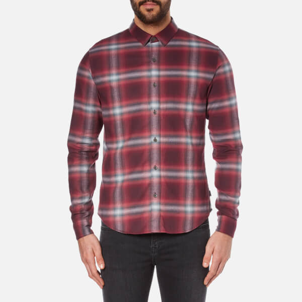 Calvin Klein Men's Wechelon Check Shirt - Port Royale Combi