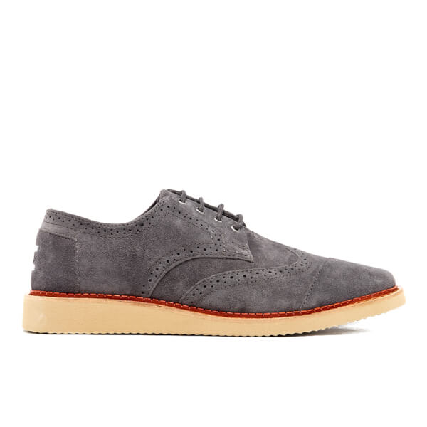 TOMS Men's Suede Brogues - Forged Iron