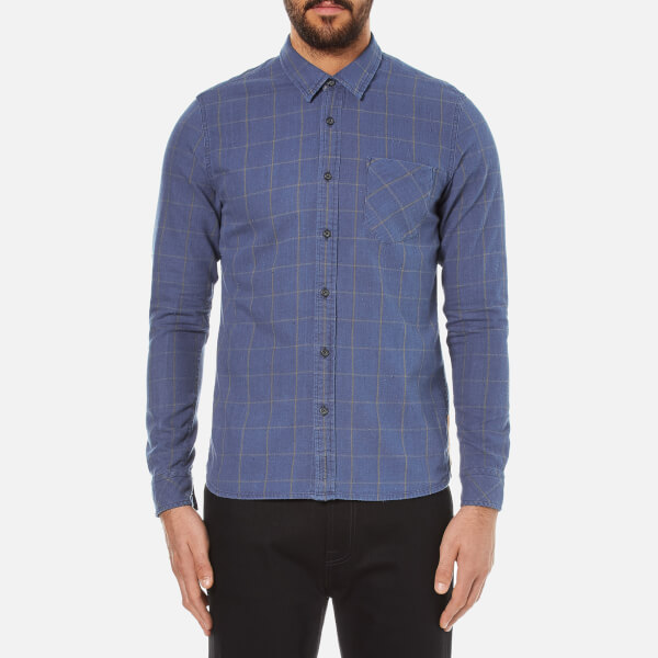 Nudie Jeans Men's Henry Flannel Check Shirt - Indigo
