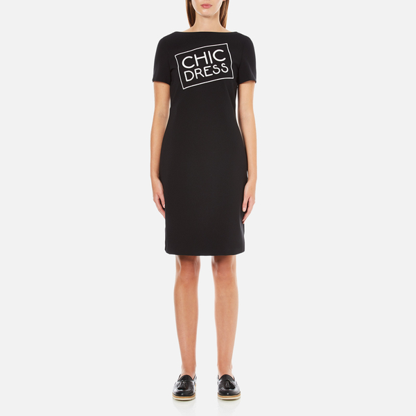 Boutique Moschino Women's Chic Dress T-Shirt Dress - Black