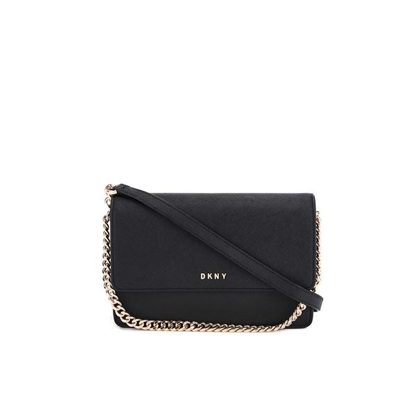 DKNY Women's Bryant Park Small Flap Crossbody Bag - Black