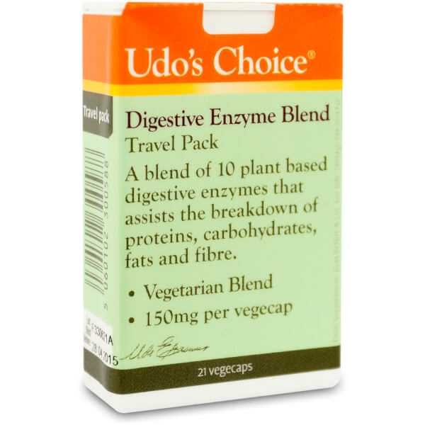 Udo's Choice Digestive Enzyme Blend Travel Pack - 21 Caps