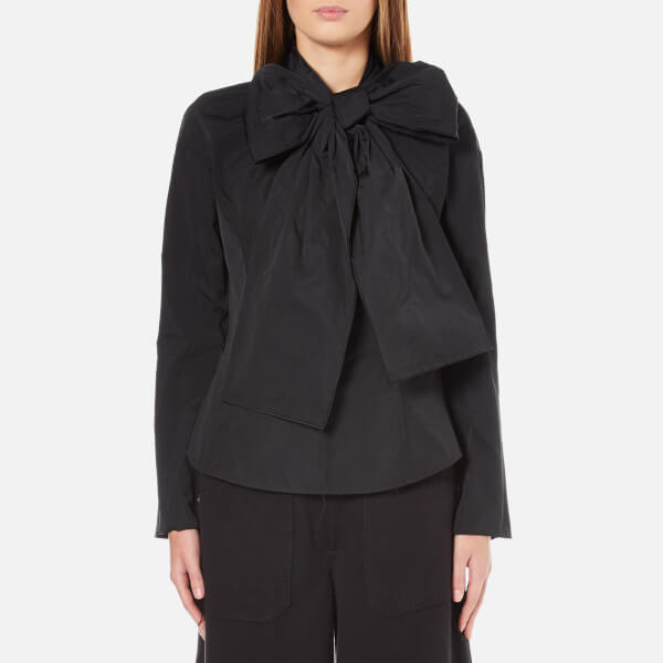 Marc Jacobs Women's Long Sleeve Shirt with Bow - Black