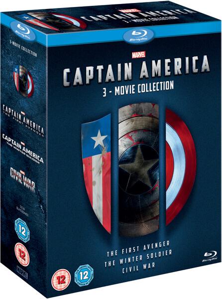 Captain America 1 3 Boxset Blu Ray Zavvi
