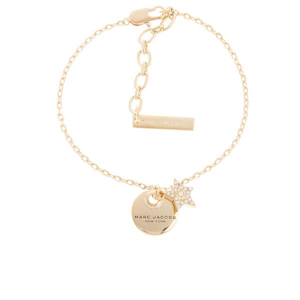 Marc Jacobs Women's MJ Coin Bracelet - Crystal/Antique Gold