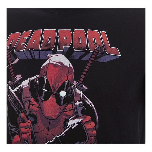 Marvel Men S Deadpool Logo T Shirt Black Merchandise Zavvi