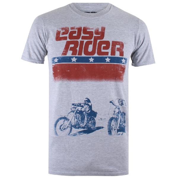 Easy Rider Men's Choppers T-Shirt - Grey Marl