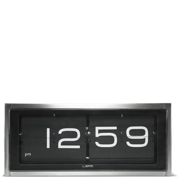 LEFF Amsterdam Brick Wall & Desk Clock - Stainless Steel