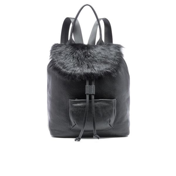 Elizabeth and James Women's Langley Fur Backpack - Black