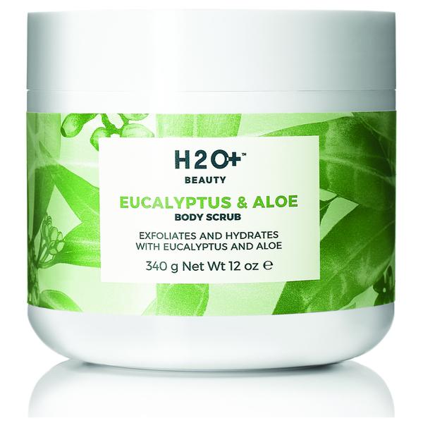 H2O+ Beauty Eucalyptus & Aloe Body Scrub 12 Oz