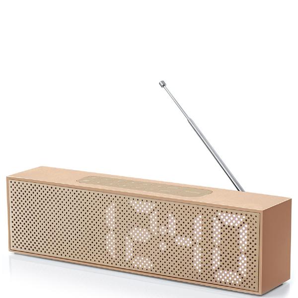 Lexon Titanium Alarm Clock - Copper
