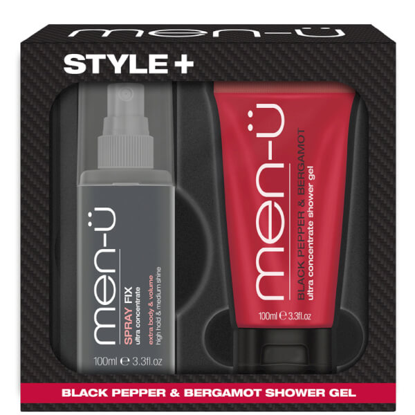 men-u Style+ Black Pepper & Bergamot Shower Gel 100ml - Spray Fix