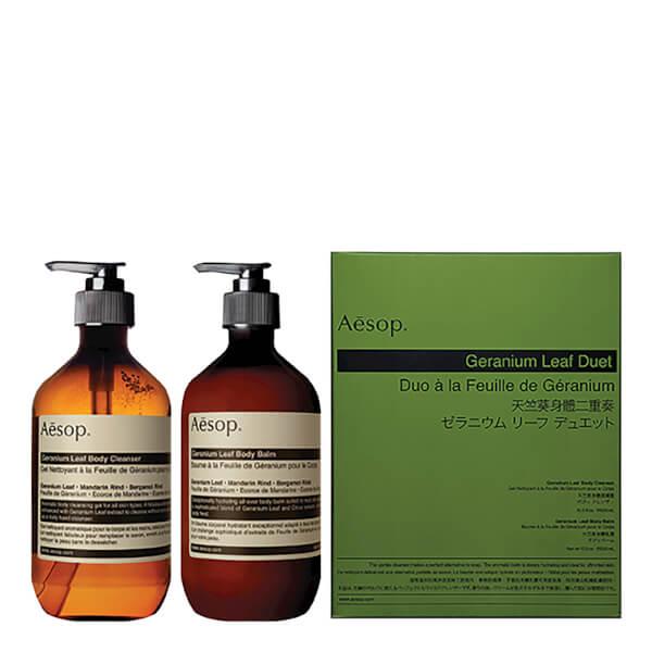 Aesop Geranium Leaf Body Cleanser and Balm Duet