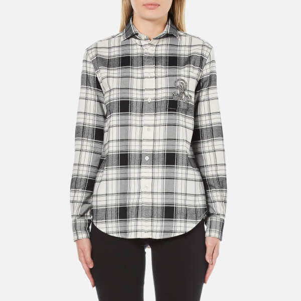 Polo Ralph Lauren Women's Sequin Crest Shirt - Winter/Dark Night