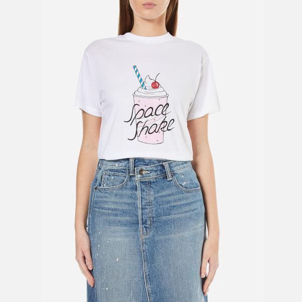 Ganni Women's Berkeley Space Shake T-Shirt - Bright White