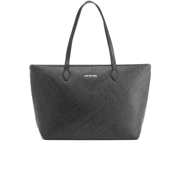 Love Moschino Women's Embossed Tote Bag - Black