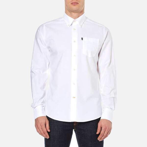 Barbour Men's Stanley Oxford Long Sleeve Shirt - White
