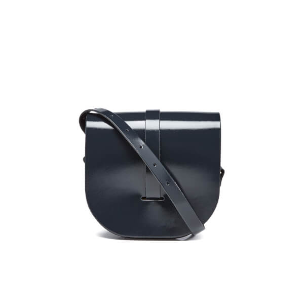 The Cambridge Satchel Company Women's Saddle Bag - Navy Patent