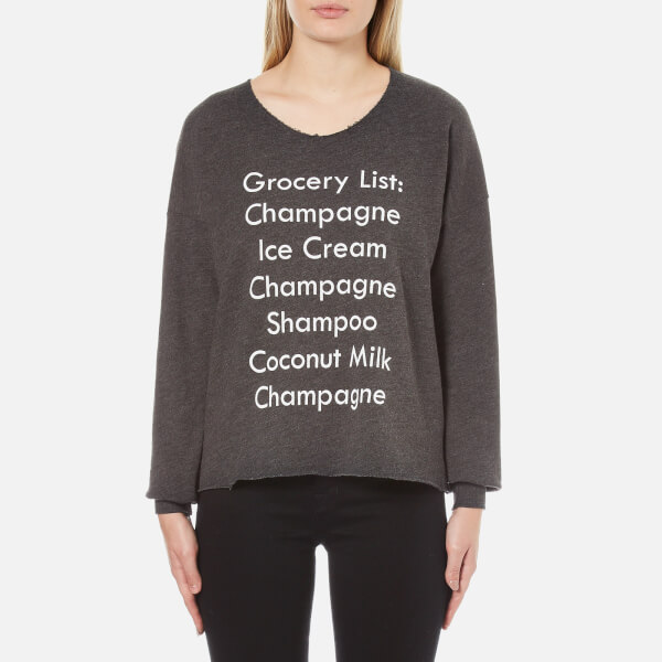 Wildfox Women's Grocery List 5am Sweatshirt - Clean Black