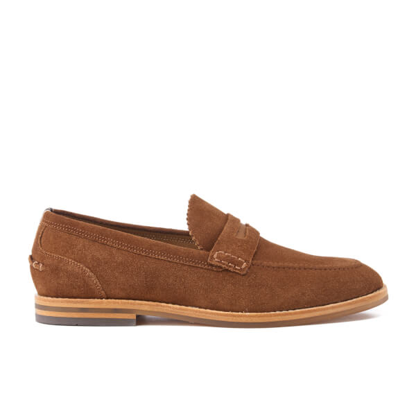 H Shoes by Hudson Men's Romney Suede Loafers - Cognac