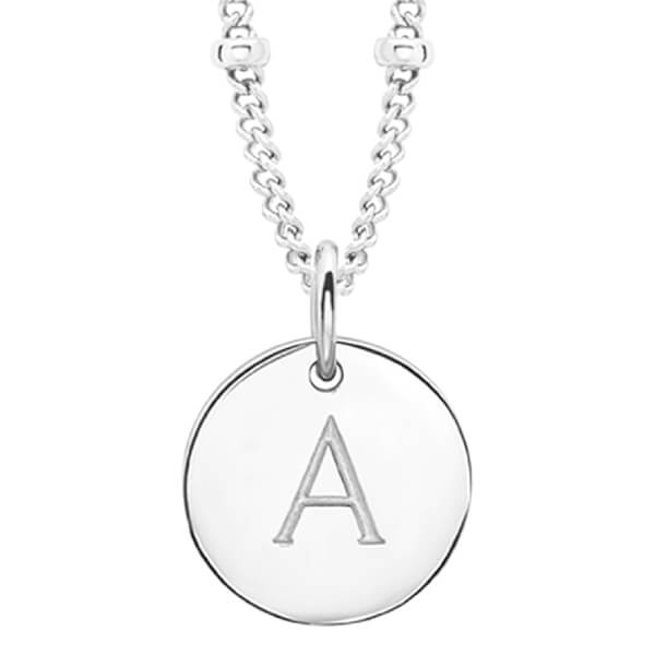 Missoma Women's Initial Charm Necklace - A - Silver