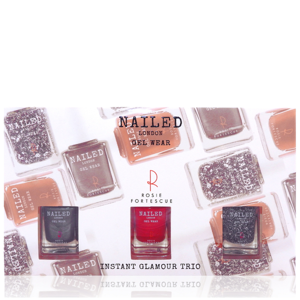 Nailed London With Rosie Fortescue Instant Glamour Trio 3 x 10ml (Worth £22)