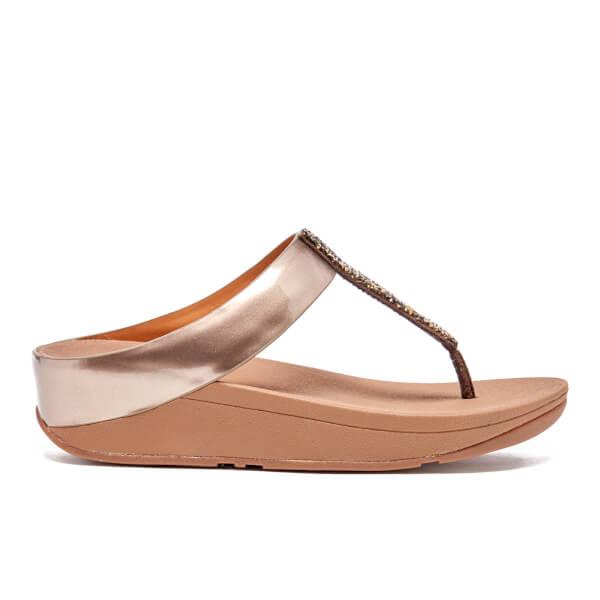 FitFlop Women's Fino Toe-Post Sandals - Bronze