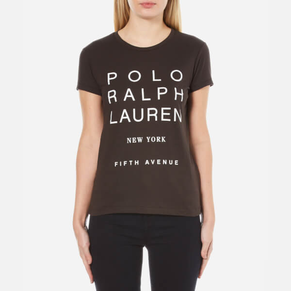 Polo Ralph Lauren Women's Graphic T-Shirt - Grey Ghost