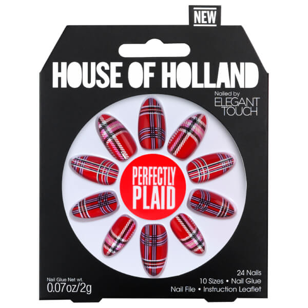 Elegant Touch House of Holland V Nails - Perfectly Plaid