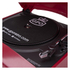 GPO Retro Memphis Turntable 4-in-1 Music System with Built in CD and FM Radio - Red: Image 6