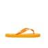 PE Beach Flip Flops with PVC Strap - Orange - Large: Image 2