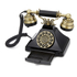 GPO Retro Duke Telephone with Push Button Dial - Black: Image 2