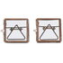 Nkuku Tiny Danta Frame - Antique Copper - Set of 2 - 5 x 5cm: Image 1