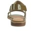 Folk Women's Indra Two Part Patent Leather Sandals - Bronze: Image 3