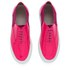 Folk Women's Isa Patent Leather/Suede Plimsoll Trainers - Fluro Pink: Image 2
