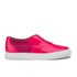 Folk Women's Isa Patent Leather/Suede Plimsoll Trainers - Fluro Pink: Image 1