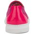 Folk Women's Isa Patent Leather/Suede Plimsoll Trainers - Fluro Pink: Image 3