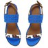 Thakoon Addition Women's Taylor 01 Bubble Snake Suede Two Part Flat Sandals - Pacific Blue: Image 2