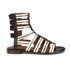 Thakoon Addition Women's Taylor 2 Leather Stripe Gladiator Sandals - Black: Image 1