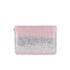 Matthew Williamson Women's Glitter Clutch Bag - Light Pink/Silver: Image 5