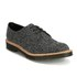 Dr. Martens Men's 'Made in England' Crafted Lester 3-Eye Leather Shoes - Black Melange Silk: Image 5